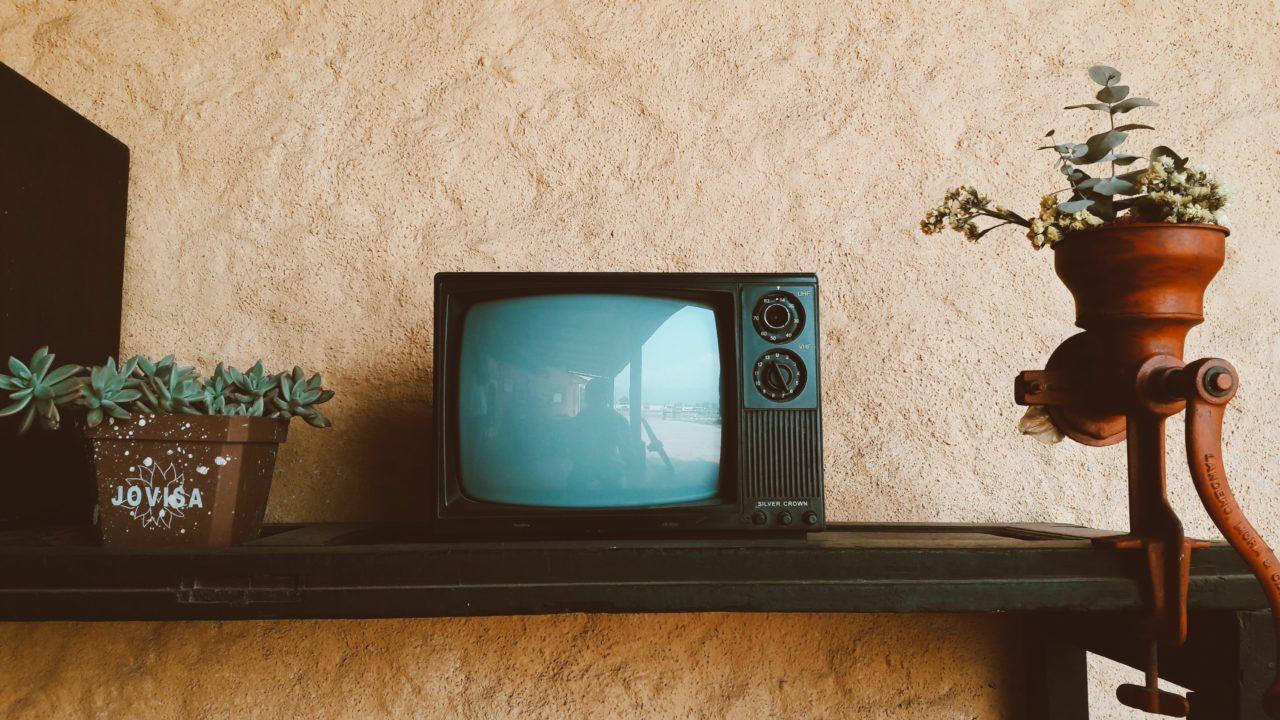 映っていない小さいテレビ