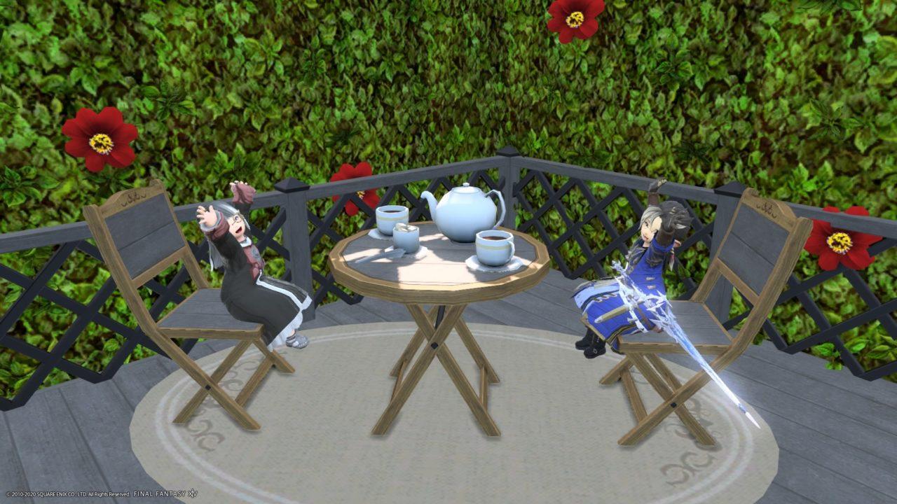 FF14夫婦でお茶会